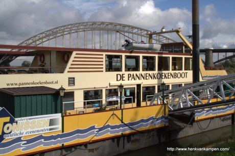 A floating pancake restaurant on the river Waal at Nijmegen